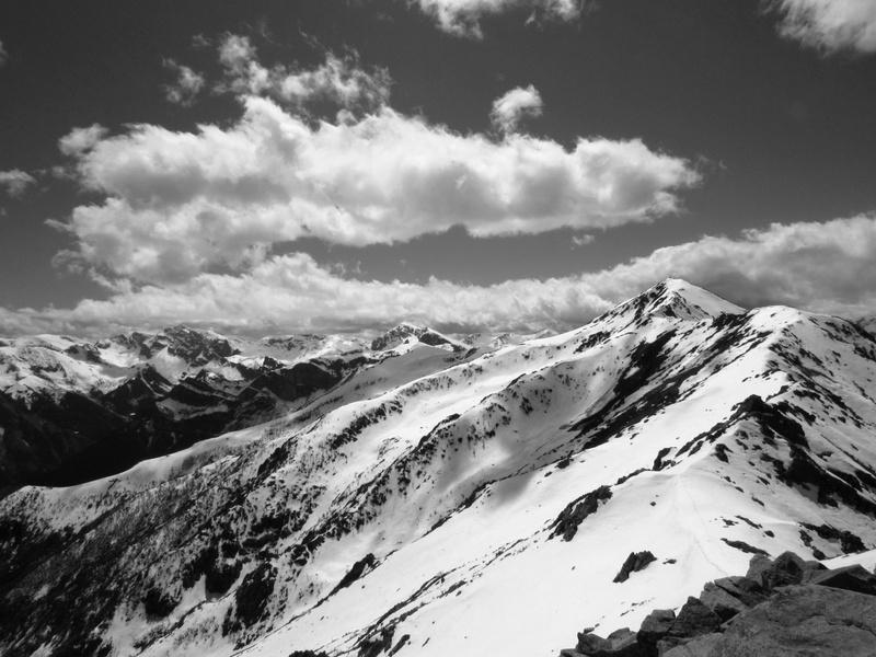 La cresta a partire da Bric Costa Rossa