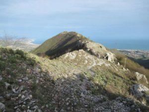 Percorso su rocce calcaree