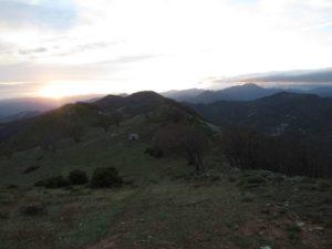 Tramonto verso la Alpi Liguri