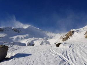 a sinistra il Monte Ciamoussè salendo nel Pian Madoro