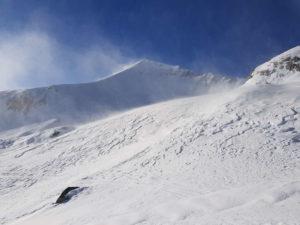 Monte Ciamousse, Pian Madoro ed il vento