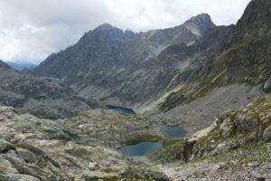 Vallone di Gordolasque, lac du mont Clapier e sullo sfondo il Refuge Nice