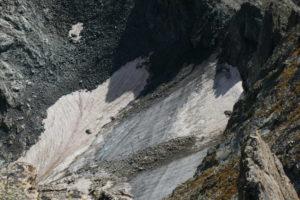 Quel che rimane dell'antico ghiacciaio del Clapier