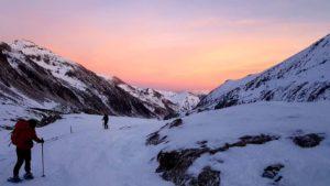 I primi colori del tramonto