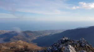 Panorama dal percorso in cresta