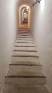 scalinata verso l'osservatorio