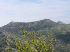 A sx Forte Fratello Minore e a destra sede del Forte Fratello Maggiore demolito
