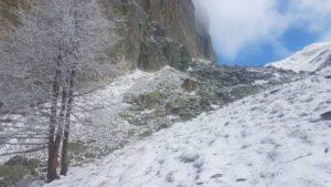Paesaggio innevato alla base della Rocca Provenzale